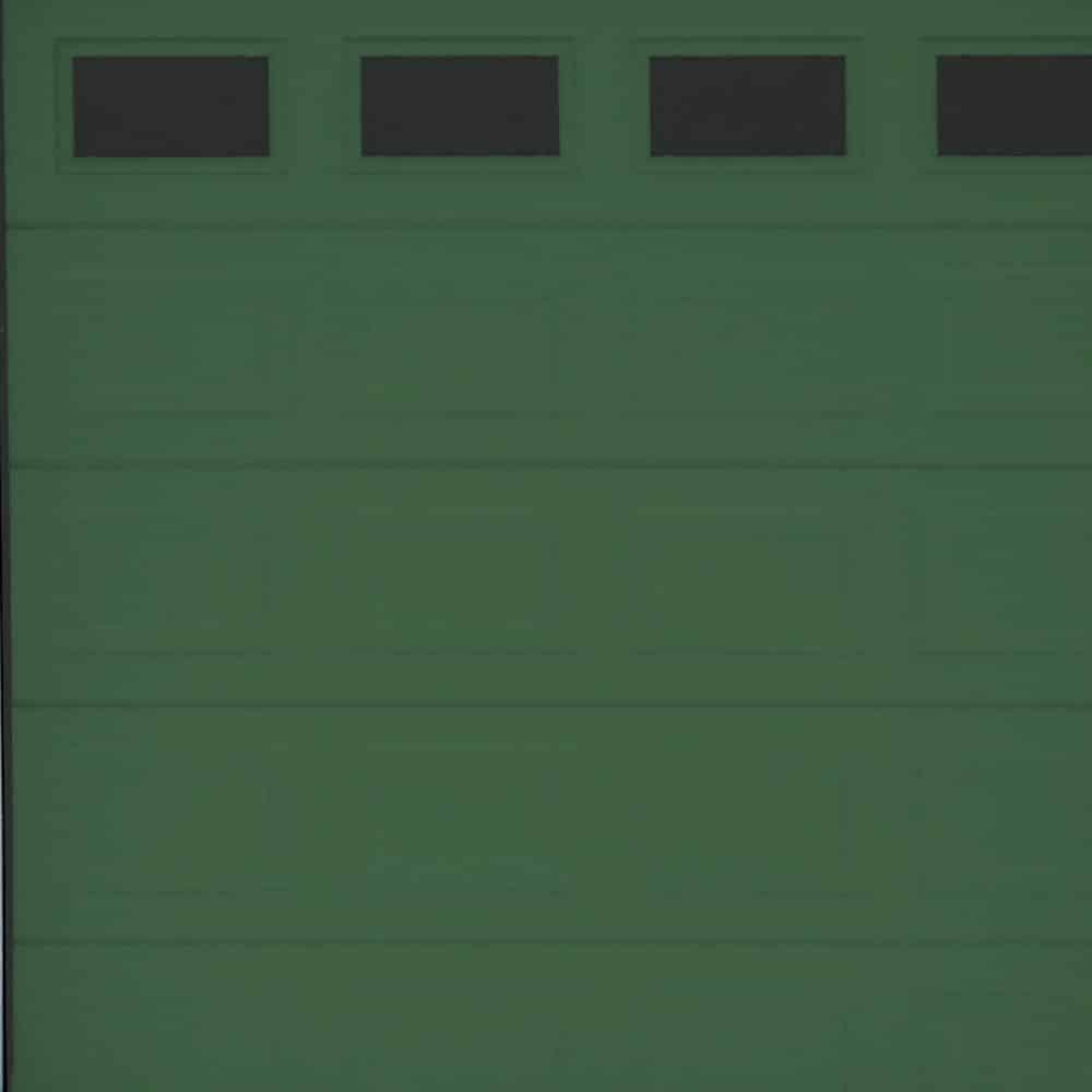 Porta sezionale box garage verde