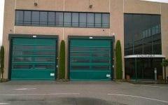 Coppia di porte avvolgibili AD verdi