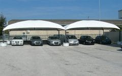 Gazebo esterno copertura veicoli