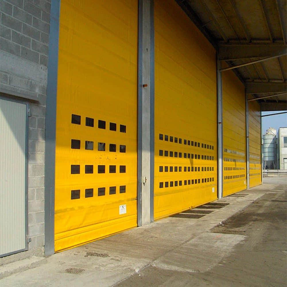 Porta industriale impacchettamento rapido Dapbig gialla
