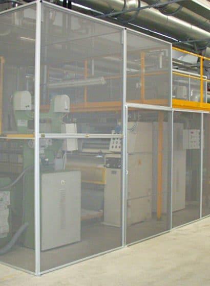 Esempio di una struttura industriale in un capannone