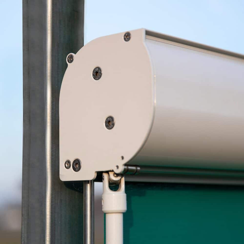 Particolare tenda da esterno a rullo filtrante Roller Box
